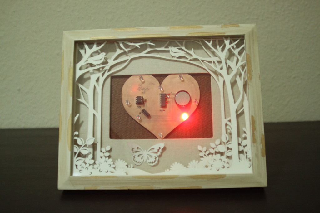 Heart Card in Frame